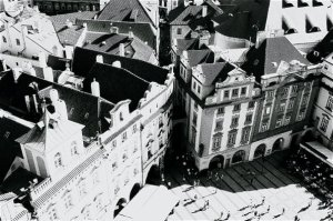Old Town Square- View from above Astronomical Clock