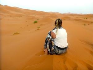Contemplating in the Sahara Dessert